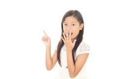 азиатская девушка удивила Стоковое фото RF