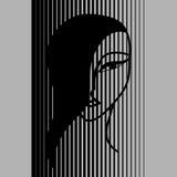 азиатская девушка иллюстрация вектора