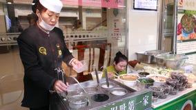 Азиатская еда улицы, Пекин видеоматериал