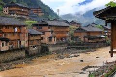 Азиатская деревня, Китай Стоковые Фотографии RF