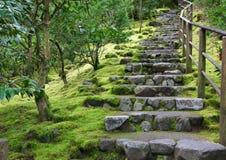 Азиатская лестница камня сада Стоковая Фотография RF