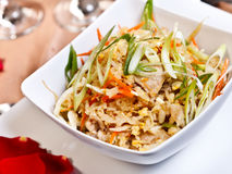 Азиатская еда - жареный рис свинины, побочный заказ Стоковая Фотография