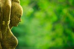 азиатская женская статуя Стоковое Фото