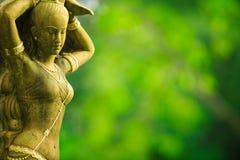 азиатская женская статуя Стоковая Фотография RF