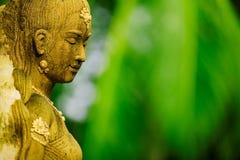 азиатская женская статуя Стоковая Фотография
