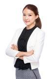 Азиатская женщина ассистента дела стоковые изображения rf