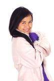 Азиатская женщина в зиме Стоковые Изображения