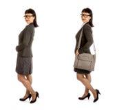 Азиатская женщина в рамке подбитого глаза стеклянной и офис оборудуют #4 стоковые фотографии rf