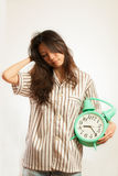 Азиатская женщина в утре Стоковые Изображения RF