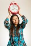 Азиатская женщина в утре Стоковая Фотография
