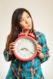 Азиатская женщина в утре Стоковая Фотография RF