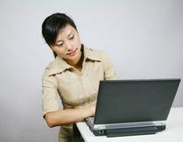 азиатская женщина дела Стоковое Фото