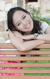 азиатская женщина зуба усмешки стоковая фотография