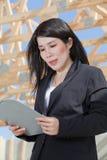азиатская женщина контрактора Стоковая Фотография