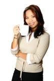 азиатская женщина кофе Стоковые Фото