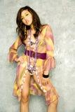 азиатская женщина платья стоковое изображение rf