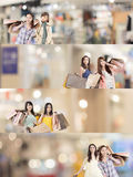 азиатская женщина покупкы Стоковая Фотография