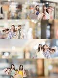 азиатская женщина покупкы стоковые фото