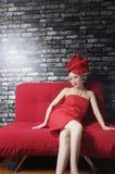 азиатская женщина полотенца Стоковая Фотография