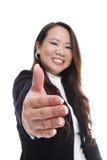 азиатская женщина рукопожатия дела Стоковые Фото