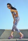 азиатская женщина солнечных очков Стоковая Фотография RF
