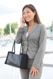 азиатская женщина телефона дела Стоковое фото RF