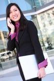 азиатская женщина телефона дела Стоковые Изображения RF
