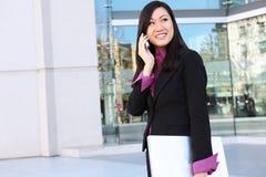азиатская женщина телефона дела Стоковое Изображение RF
