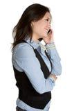 азиатская женщина телефона Стоковое фото RF