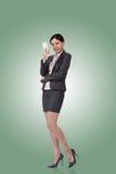 азиатская женщина телефона дела Стоковые Изображения