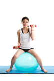 азиатская женщина тренировки Стоковые Фотографии RF