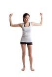 азиатская женщина тренировки Стоковое Изображение