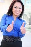 азиатская женщина успеха дела стоковые изображения