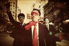 Азиатская концепция смелости устремленности Superheros дела Стоковые Изображения