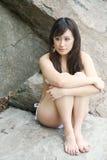 азиатская красивейшая женщина бикини Стоковые Фотографии RF