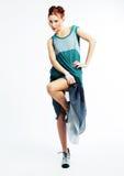 азиатская красивейшая модель девушки способа платья самомоднейшая Стоковое фото RF