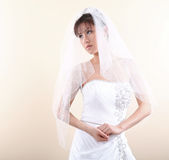 азиатская красивейшая невеста вручает ее удерживание совместно Стоковое Изображение RF