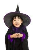 Азиатская маленькая китайская девушка нося костюм хеллоуина Стоковое Изображение RF