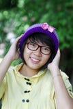 азиатская милая девушка Стоковая Фотография