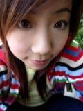 азиатская милая девушка Стоковые Изображения