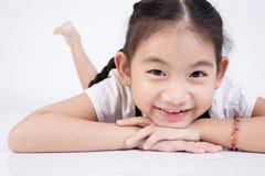 Азиатская милая девушка в костюме скачки с стороной улыбки Стоковое Изображение RF