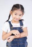 Азиатская милая девушка в костюме скачки с стороной улыбки Стоковые Изображения
