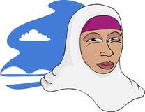 азиатская мусульманская спокойная женщина Стоковое Изображение
