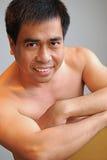 азиатская мыжская модель Стоковые Фотографии RF