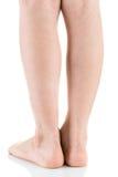 Азиатская нога ребенка, съемка студии Стоковые Изображения RF