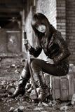 азиатская опасная девушка стоковая фотография