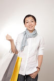 азиатская покупка девушки Стоковые Фото