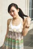 азиатская помадка девушки Стоковое Фото