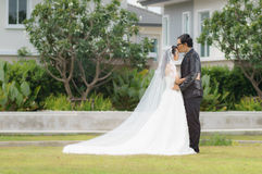 Азиатская пре-свадьба пар Стоковые Фотографии RF