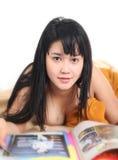 Азиатская сексуальная молодая женщина Стоковое фото RF